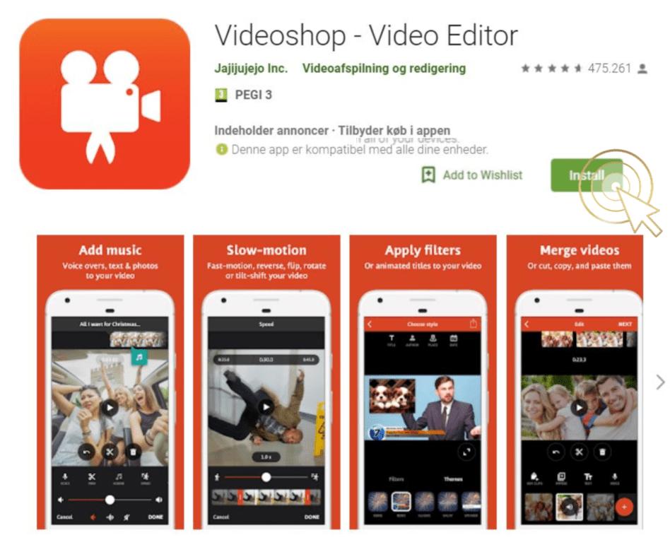 videoshop app guide igtv videoredigeringsværktøj