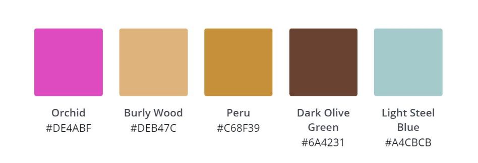 Canva find din farve palette
