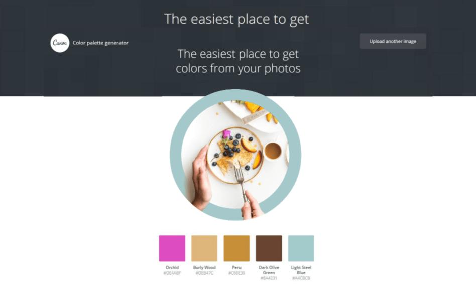 Canva find farve palette