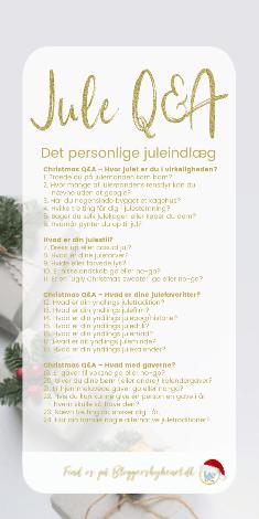 julespørgsmål til inspiration blogindlæg