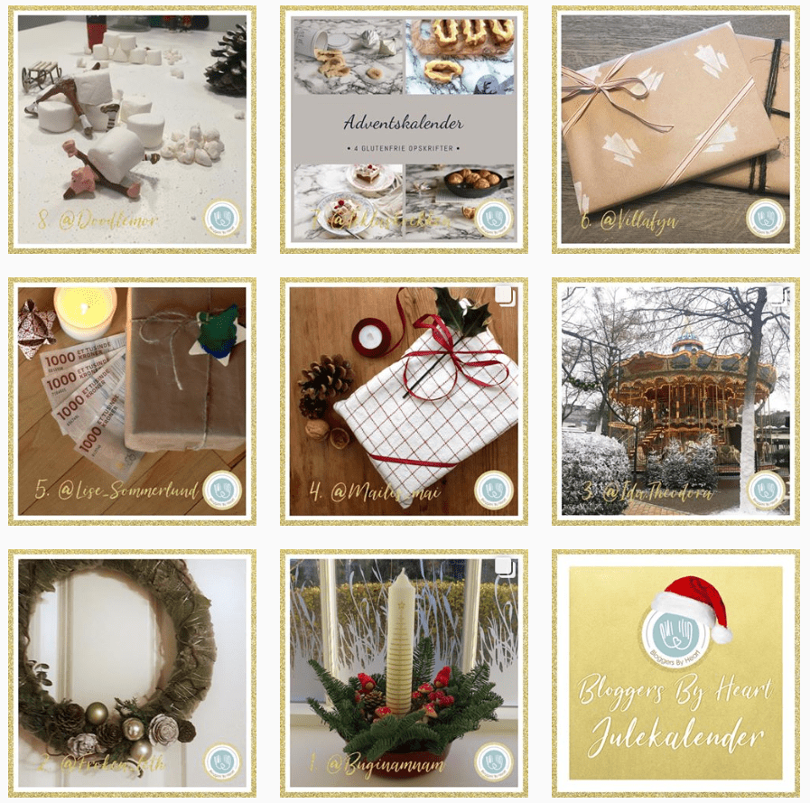 Julekalender Bloggers by heart