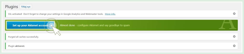 undgå spamkommentarer på din blog akismet