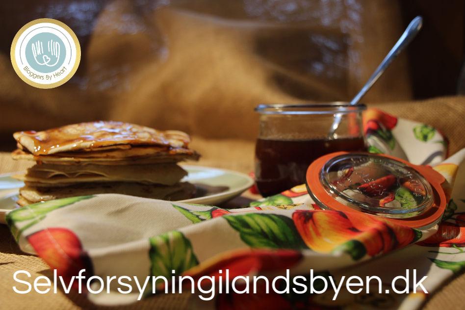 Hybensirup og veganske pandekager bloggers by heart