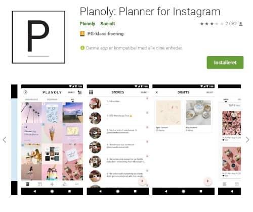 PLanoly planlægningsapp til instagram