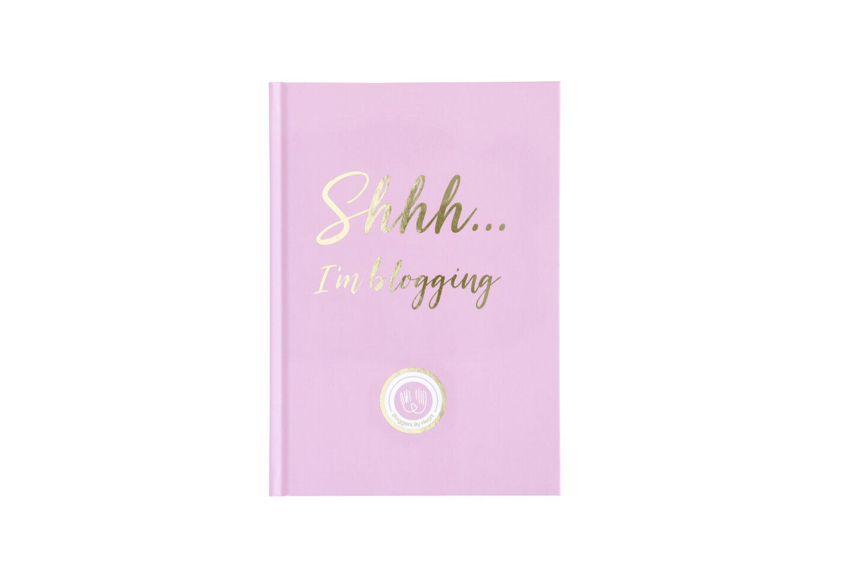blogger workbook lyserød