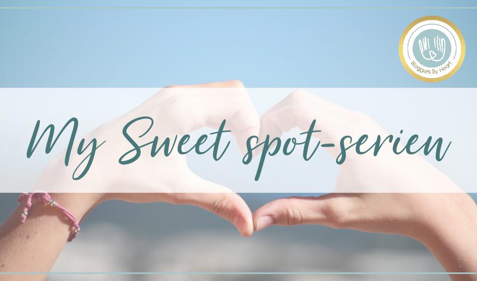 Hænder danner et hjerte. My sweet spot serien.