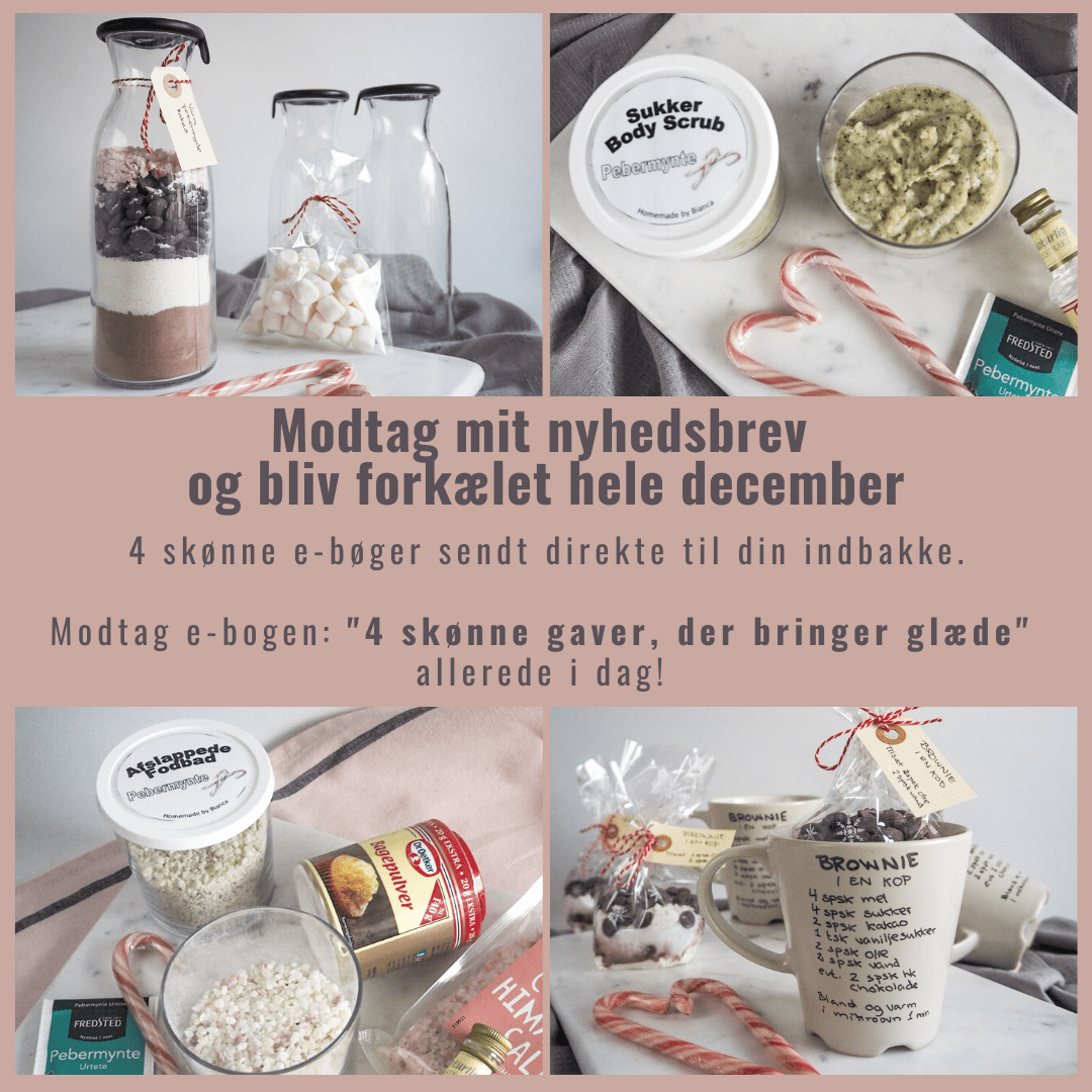 Adventskalender fra homebybianca.dk - Julemad, juleslik og julegaver