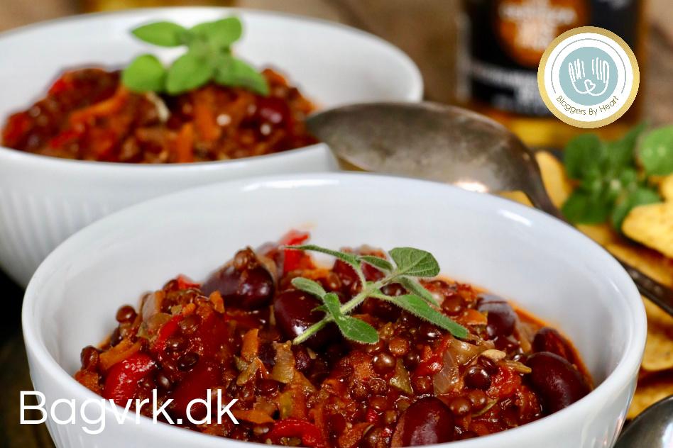vegansk aftensmad chili sin carne opskrift